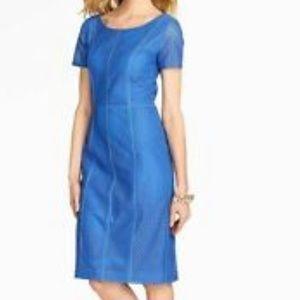 Talbots blue eyelet dress size 6